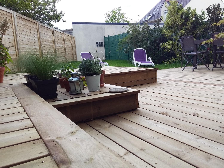 Création D Une Terrasse Bois à Nantes Iviso