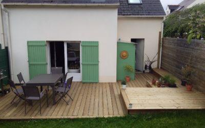 Création d'une terrasse bois à Nantes